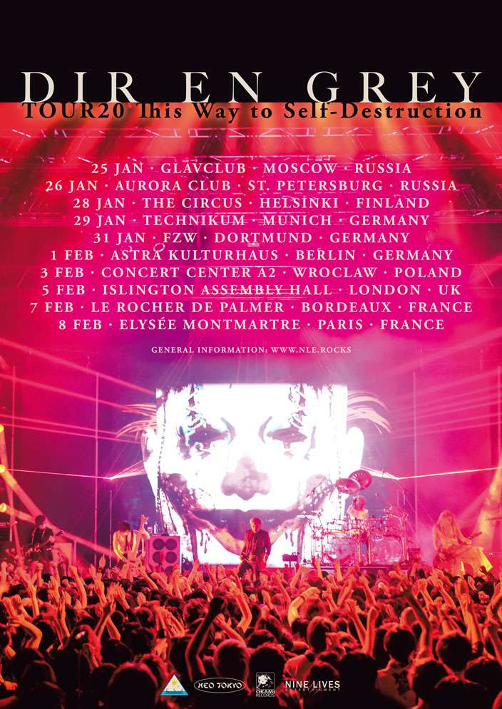 DIR EN GREY TOUR20 This Way to Self-Destruction Tour Poster