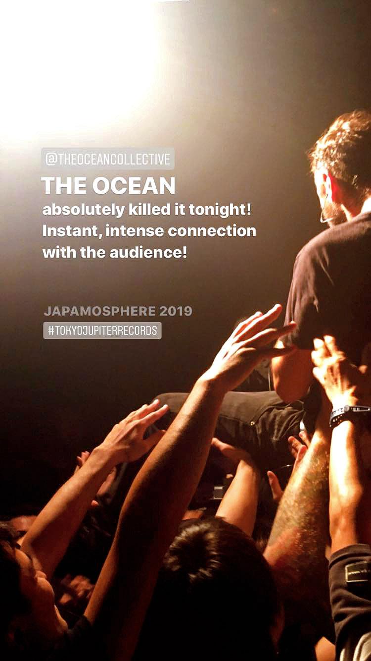 THE OCEAN at JAPAMOSPHERE 2019 Instagram Story by EN.CORE ROCKS
